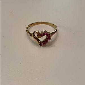 10k gold ring with Ruby's